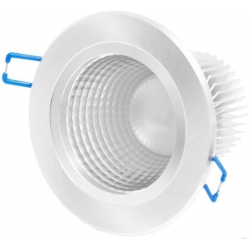 DOWNLIGHT ECO LED DEEP 9W - 4000K - neutrale - silbernes Gehäuse